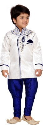 AJ Dezines Boys Festive & Party Sherwani and Churidar Set(Blue Pack of 1) at flipkart