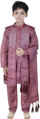 Soundarya Boys sherwani and Churidar Set(Maroon Pack of 1)  available at flipkart for Rs.1199