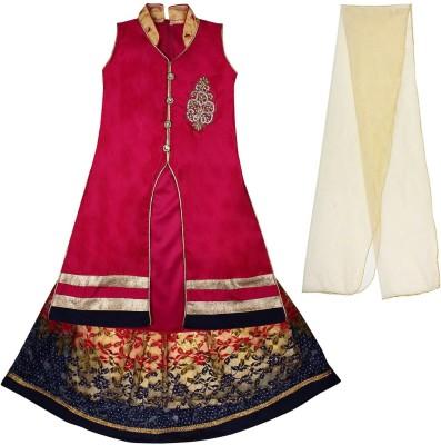 75 Off On Arshia Fashions Girls Lehenga Choli Ethnic Wear Embroidered Lehenga Choli And Dupatta Set Multicolor Pack Of 1 On Flipkart Paisawapas Com
