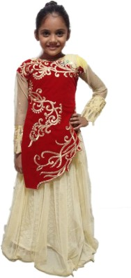 Shree Creation Girls Lehenga Choli Ethnic Wear Embroidered Lehenga Choli(Red, Pack of 1)  available at flipkart for Rs.1599