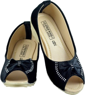 Leatherwood1 Girls Slip-on Heels(Black)