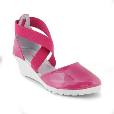 KITTENS Girls Sling Back Wedges(Pink) at flipkart
