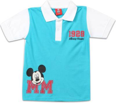 Disney Boys Printed Cotton T Shirt