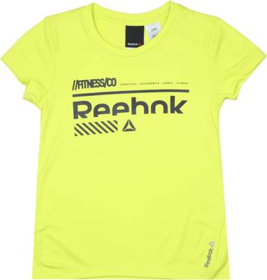 Reebok Girls Printed Polyester T Shirt