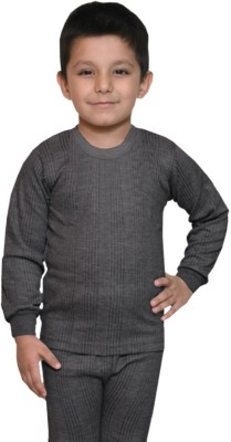 Lux Inferno Top For Boys(Grey, Pack of 1)