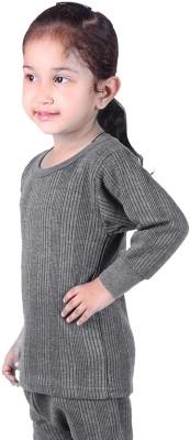 Red Fort Top For Girls(Grey, Pack of 3) Flipkart