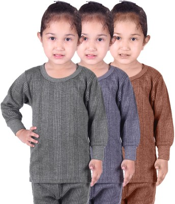 Red Fort Top For Girls(Grey, Pack of 3) Flipkart