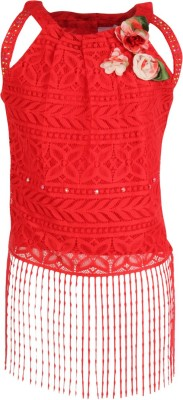 Cutecumber Baby Girls Party Lace Crop Top(Red, Pack of 1) Flipkart