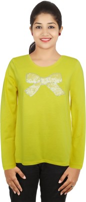 Girl Confidential Girls Casual Cotton Tunic Top(Yellow, Pack of 1)  available at flipkart for Rs.300