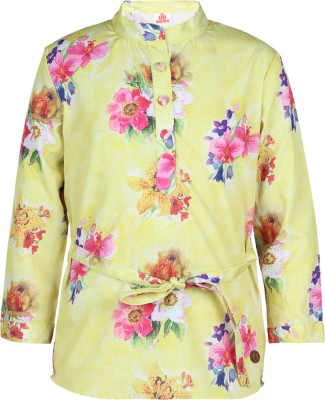 UFO Girls Casual Polycotton Top(Yellow, Pack of 1) at flipkart