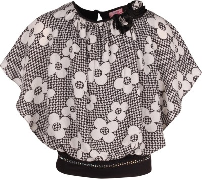 Cutecumber Baby Girls Party Poly Georgette Top(Black, Pack of 1) at flipkart