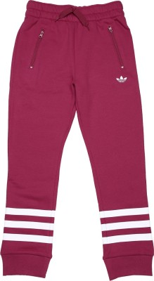 Adidas Track Pant For Girls(Maroon) at flipkart