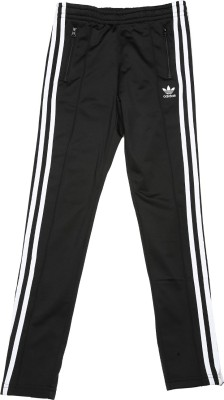 Adidas Track Pant For Girls(Black Pack of 1) at flipkart