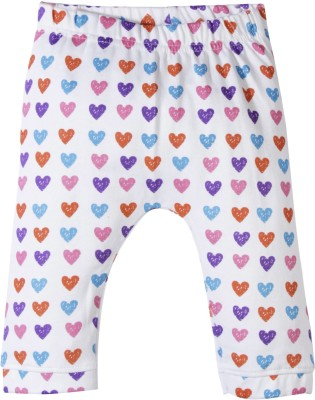 Jute Baby Track Pant For Girls(White Pack of 1)