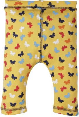 Jute Baby Track Pant For Girls(Yellow Pack of 1)