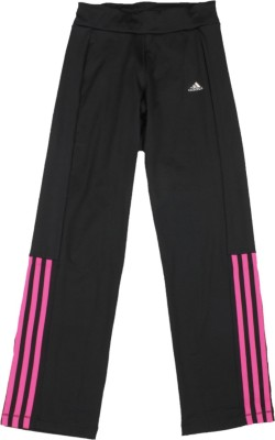 ADIDAS Track Pant For Girls(Black Pack of 1)