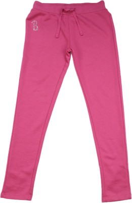 United Colors of Benetton. Track Pant For Girls(Pink Pack of 1) at flipkart