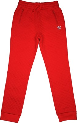 Adidas Track Pant For Girls(Red) at flipkart