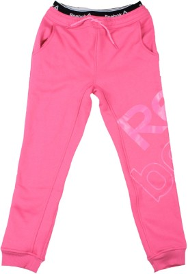 Reebok Track Pant For Girls(Pink Pack of 1) at flipkart