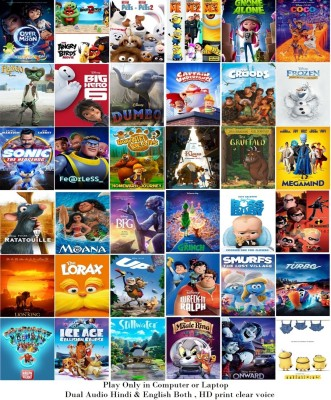 41 Cartoon Movies (dual audio Hindi and English) name see in Description HD print clear audio it's burn DATA DVD play only in computer or laptop it's not original without poster(DVD Hindi)