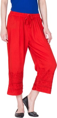 LUJOSO Regular Fit Women Red Trousers