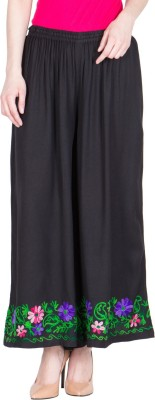 LUJOSO Regular Fit Women Black Trousers