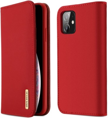 DHAN GTB Flip Cover for Apple iphone 12 mini(5.4 inch)(Red, Grip Case)