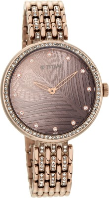 Titan 95129QM01 Animalia Analog Watch - For Women