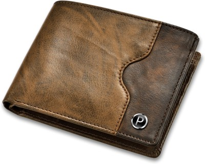 PIRASO Men Brown Artificial Leather Wallet(3 Card Slots)