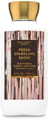 BATH & BODY WORKS Fresh Sparkling Snow Super Smooth Body Lotion(236 ml)