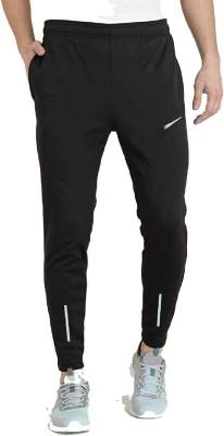 Finz Air Solid Men Black Track Pants