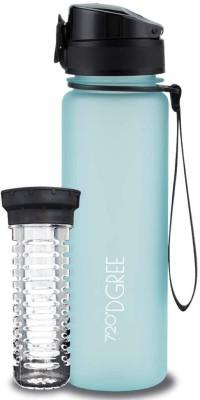720°DGREE Sports Fruit Infuser Detox Water Bottle for Office, Gym, School, Travel, etc. 500 ml Bottle(Pack of 1, Blue, Tritan)