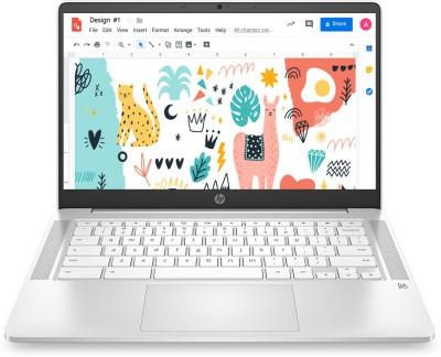 HP 14a Celeron Dual Core - (4 GB/64 GB EMMC Storage/Chrome OS) 14a- na0002TU Chromebook(14 inch, Ceramic White, 1.46 kg)