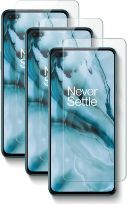 Fovtyline Tempered Glass Guard for OnePlus Nord(Pack of 3)