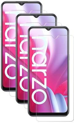 Fovtyline Tempered Glass Guard for Realme Narzo 20, Realme Narzo 20A(Pack of 3)