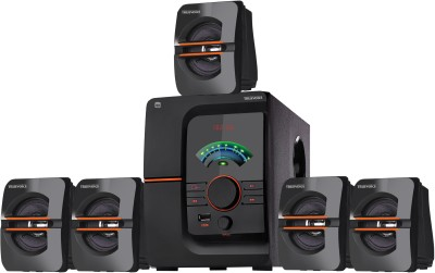 HRETRUEVOICE 502 Bluetooth Multimedia Home Theatre 60 W Bluetooth Home Theatre(Black, 5.1 Channel)