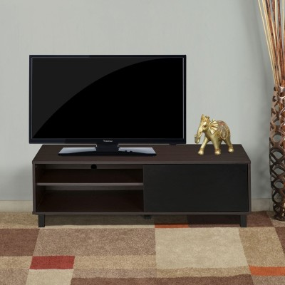 @home by Nilkamal Astero Engineered Wood TV Entertainment Unit(Finish Color - Walnut with White)