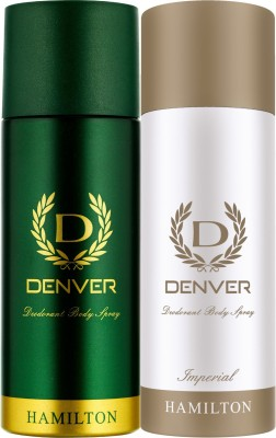 Denver Hamilton and Imperial Combo Deodorant Spray  -  For Men(330 ml, Pack of 2)