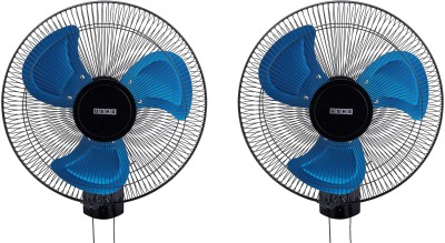 Usha colossus pack of 2 400 mm 3 Blade Wall Fan  (Multicolor, Pack of 2)