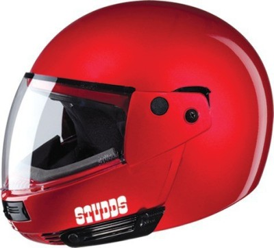STUDDS NINJA PASTEL PLAIN FULL FACE - CHERRY RED -XL Motorsports Helmet(Cherry Red)