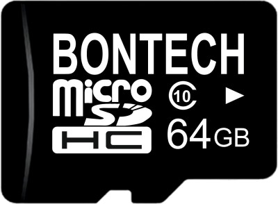 BONTECH 10X 64 GB MicroSD Card Class 10 100 MB/s Memory Card(With Adapter)