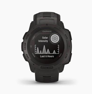 Garmin Garmin Instinct Solar Graphite Smartwatch(Grey Strap, m)