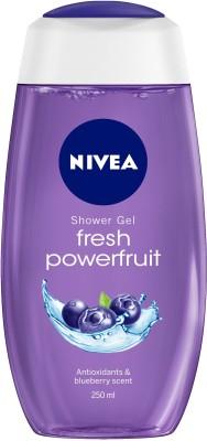 NIVEA Body Wash, Fresh Powerfruit Shower Gel, with Antioxidants & Blueberry Scent(250 ml)