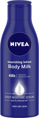 NIVEA Body Lotion for Very Dry Skin, Nourishing Body Milk with 2x Almond Oil, For Men & Women(120 ml)