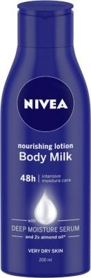 NIVEA Body Lotion for Very Dry Skin, Nourishing Body Milk with 2x Almond Oil, For Men & Women(200 ml)