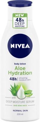 NIVEA Body Lotion, Aloe Hydration, with Aloe Vera, for Men & Women(200 ml)