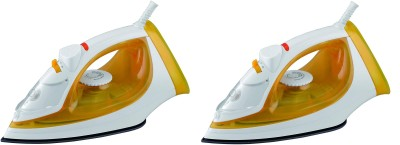 Usha steam pro siSI3816 PACK OF 2 1600 W Steam Iron  (MUSTRED YELLOW)