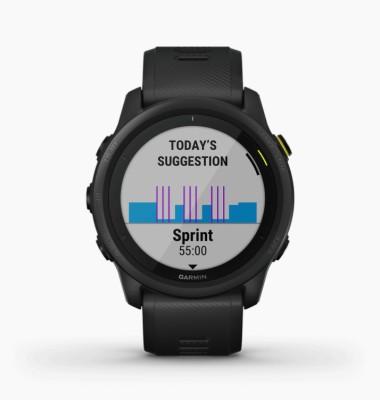 GARMIN Forerunner 745 Black Smartwatch(Black Strap, m)