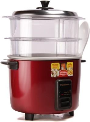 Panasonic SR-WA18H (SS) Food Steamer, Rice Cooker(4.4 L, Red)