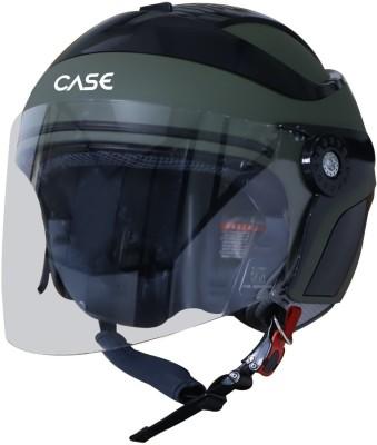 Steelbird SB-29 Case Motorbike Helmet(MAT BATTLE GREEN WITH BLACK)